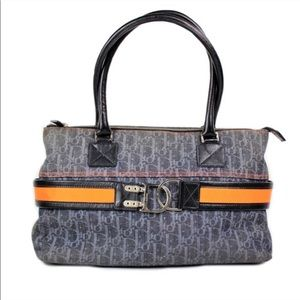 Christian Dior Flight Trotter Denim Bag